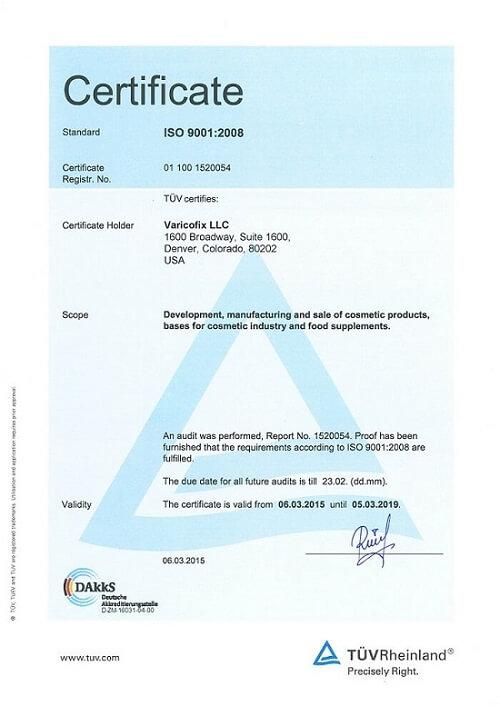 Certifivate varicofix